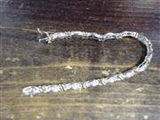 Gold-Diamond Bracelet 56 Diamonds 1.12 Carat T.W. 10K Yellow Gold 13.1g